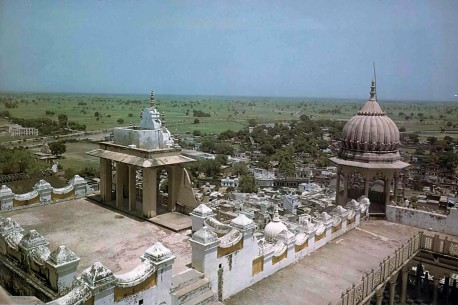 Exquisite Sriji temple, honoring the birthplace of Srimatl Radharani. Vrindavan. 1975.
