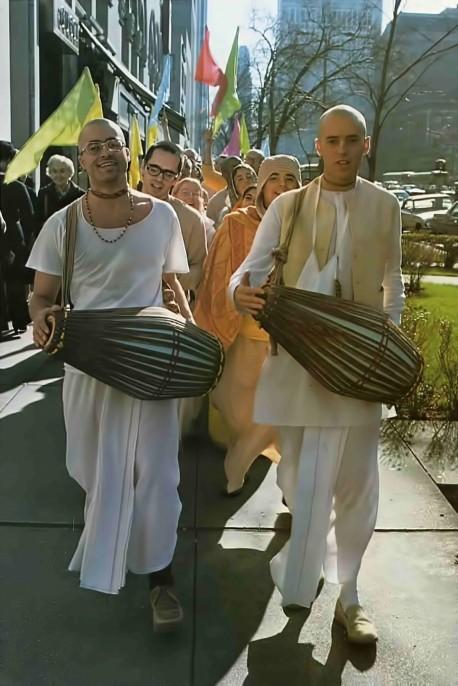 Hare Krishna Devotees Chanting. 1976.