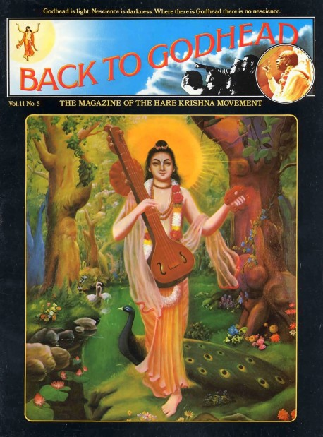 Back to Godhead - Volume 11, Number 05 - 1976 Cover