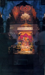 ISKCON New Dwarka, Los Angeles Temple Deities, 1976.