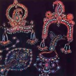 Radha Krishna Deity Crowns made by ISKCON devotee 1976.