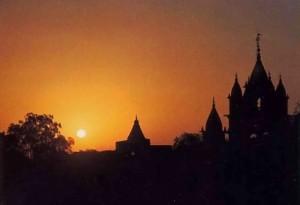 Indian Village Skyline at Sunset.1977.