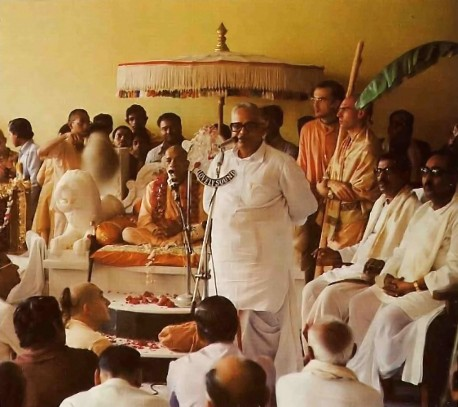 Srila Prabhupada at ISKCON Hyderabad 1977