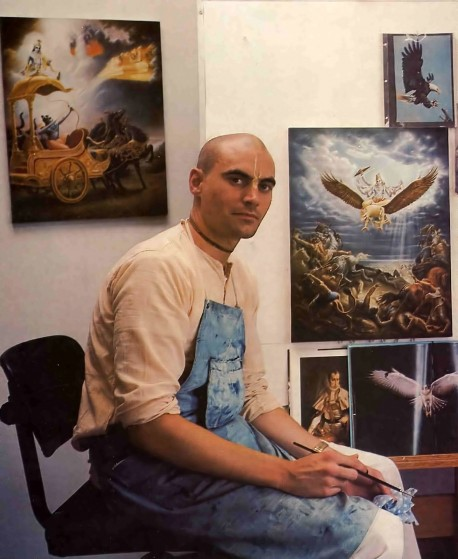 ISKCON Artist Mark Missman (Muralidhara dasa) - 1977