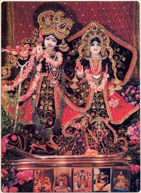 ISKCON Los Angeles, New Dwarka Deities Sri Sri Rukmini-Dvarkadesh 1977