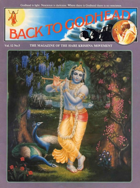 Back to Godhead - Volume 12, Number 05 - 1977 Cover