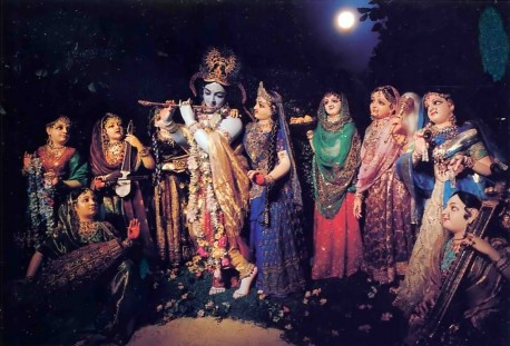 Radha and Krishna and the Gopis F.A.T.E. (First American Theistic Exhibit) ISKCON Los Angeles - 1977