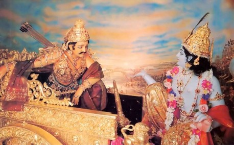 We can let Krishna be the driver of our chariot. We can ask Him to guide our intelligence and take the reins, just as He does here for His great devotee Arjuna.