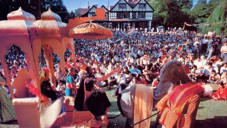At London's Bhaktivedanta Manor millions celebrate Janmashtami--the birth of Lord Krishna, the Father of all living beings. - 1977