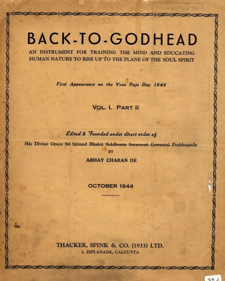 Back to Godhead - Volume 01, Number 02 - 1944
