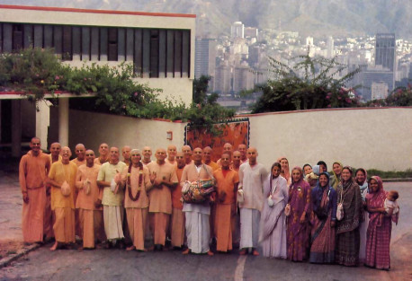 In the Caracas bills (right), above the skyscrapers in the city's basin, devotees maintain the oldest K{~Qa center on the continent.