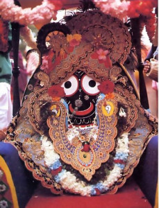 Krsna smiles appreciatively (in His Deity form as Jagannatha. the Lord of the Universe) and pulls everyone farther and farther toward inner realization.
