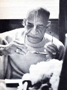 "At 94 Bowery, Srila Prabhupada used an ""artist·in·residence"" loft for chanting Hare Krsna lecturing, and translating Srimad·Bhagavatam into English."