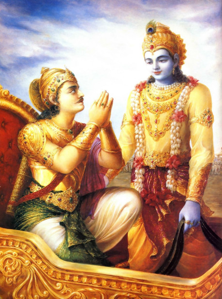 The science of immortality. Fifty centuries ago, on India's Battlefield of Kuruksetra, Lord Krsna taught it to Arjuna. Though Krsna is the oldest, He stays ever young. And so can we.