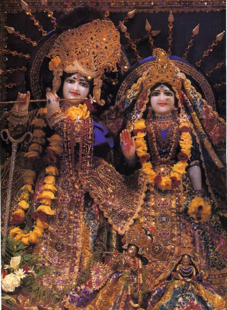 The unlimited, if He is truly unlimited, car reveal Himself (as He does even now, along with His eternal con sort, at the Krsna temple in LosAngeles).