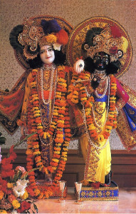 Krsna and His brother Balarama, Krsna serves notice to all that He isn't vague or enigmatic or intangible.