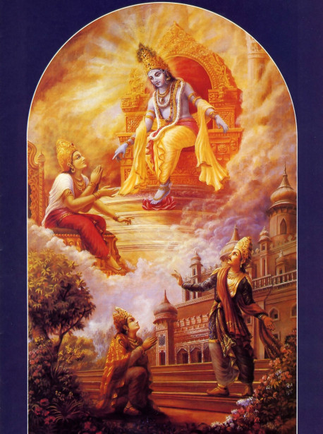 The original source of transcendental knowledge is Lord Krsna Himself, who imparted it to the sun-god Vivasvan some 120 million years ago. Vivasvan then passed it on to his son Manu, who gave it to his son lksvaku.