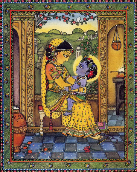 """""""Ksna played just like an ordinary child. He  was really the Supreme Personality of Godhead, but to His mother Yasodii and the other residents of Vrndavana, that was not very important. For them, He was simply their beloved Krsna."""" (From The Butter Thief)"""