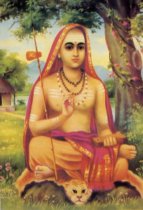 Santkara - drove the Buddhists out of India and began the Vedic restoration; eighth century