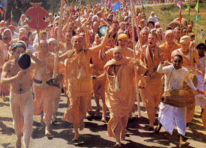 Hare Krsna devotees from several cominents celebrate a joyous pilgrimage to India's holy city of Mayapur, West Bengal.