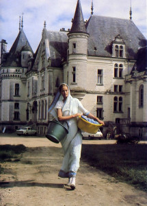 A t the Hare Krsna farm in Valencay, France, Saturupa tends to simple services like cooking. housework. gardening, and interior decoration.