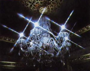 The Taj Mahal of the West gleams with the light of 42 handmade chandeliers.