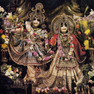 Sri Sri Radha- Vrndavanacandra, the presiding Deities at New Vrindaban.