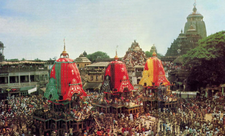 More than a million pilgrims jam the Grand Route for the annual Ratha-yatra (Festival of the Chariots) in Puri, India