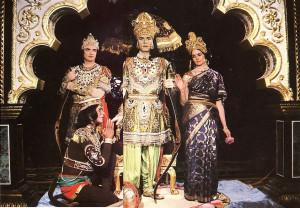 Having killed Ravana and regained Sita, Rama returns to Ayodhya for His triumphal coronation