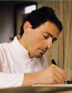 Marco works on plans for a new line of furniture at his villa in Ponsacco