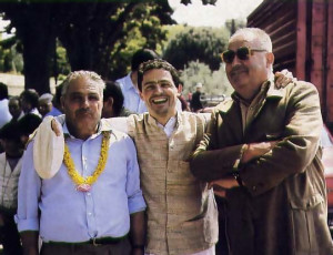 Marco and friends pose triumphantly at the annual farm competition in San Casciano, where cows from Krsna's farm outside Florence took first and second prizes as best milkers