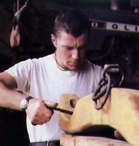 repairing a yoke at a farm in Pennsylvania;