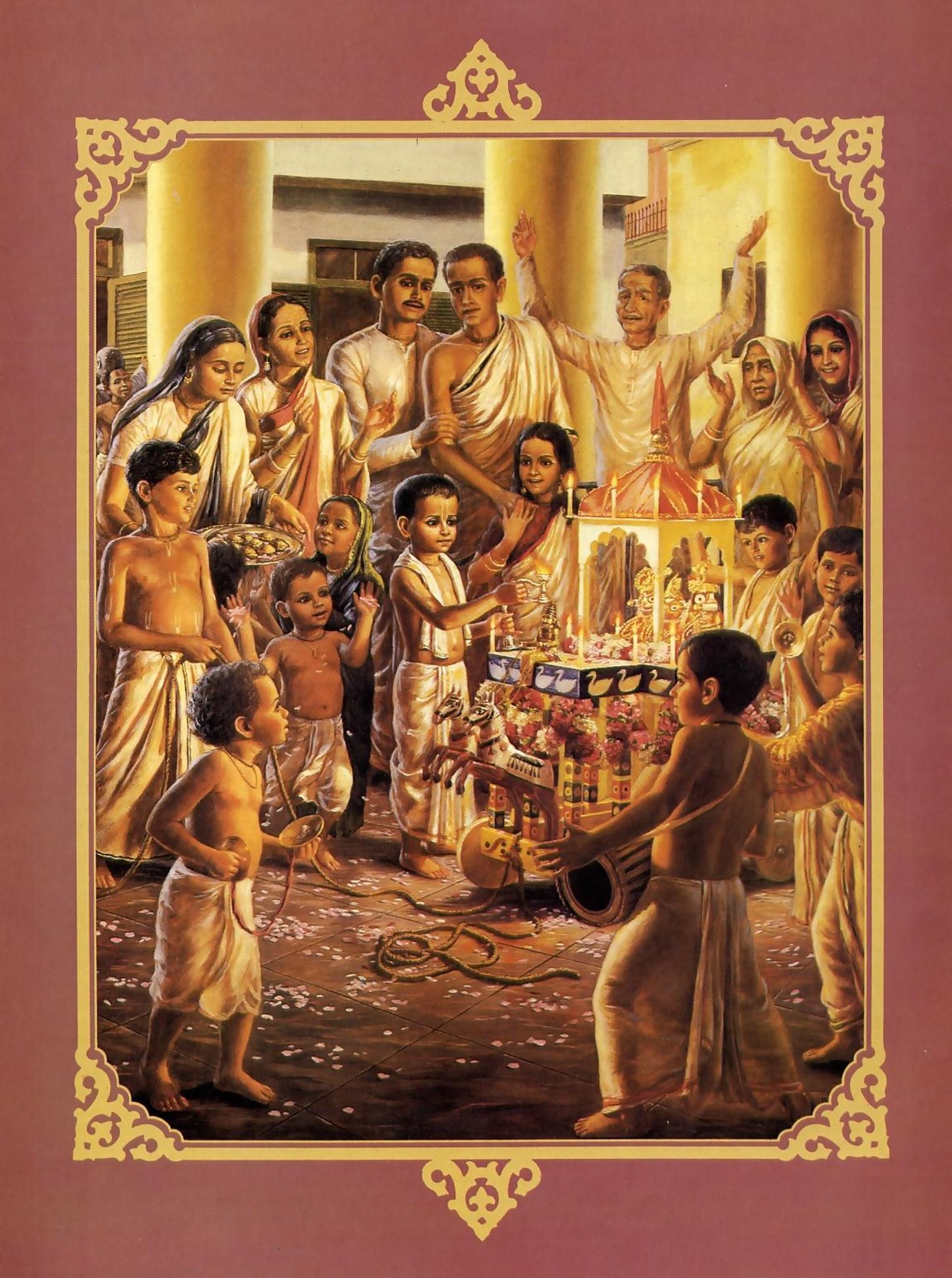 Srila Prabhupada's Childhood Ratha-Yatra Chariot Festival