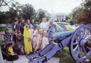 Gita-nagari students learn American history on a field trip to the nation's capital.