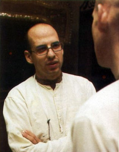 Bhurijana confers with a member of his staff