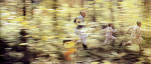 a race through the forest.