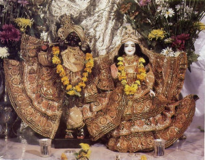 """New home for the Deities of Radha-Gopfnatha. (Radha means """"She who wors hips Krsna best,"""" and Gopinatha is a name for Krsna that means """"master of the gopis, the milkmaids of Vrndavana."""")"""