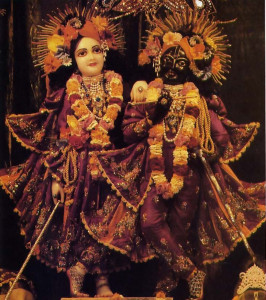 Krsna and Balarama in Their Deity forms (below) attract thousands of visitors to the temple each year.