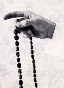 Chanting on a string of japa beads helps you concentrate on the Hare Krsna mantra and keep track of how much you've chanted.