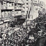 Throngs of Bombayites join the procession. More than one million participated.