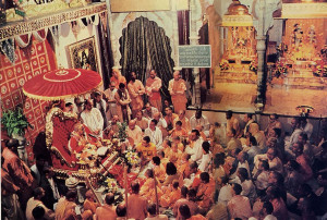 Two ways that Sria Prabhupada instilled faith into his disciples were by speaking daily on the Srimad- Bhgavaram
