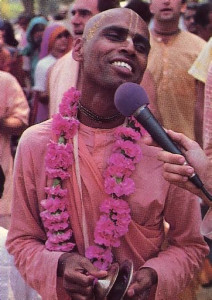 Leading the chanting on Capitol Mall is His Holiness Lokanatha Swami
