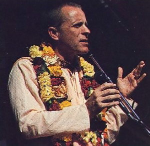 Srila Bhavananda Goswami Visnupada welcomes guests to an afternoon of music, theater, and feasting.