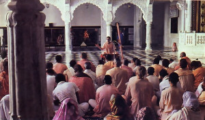 A daily class on the Srimad Bhagavatam, features open discussion on the philosophy of Krsna consciousness.