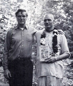 Brahma-muhurta dasa with his father. Peter Garland, in 1982.