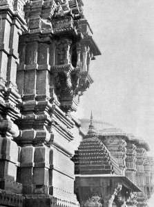 The Govindaji temple. This temple once stood many stories high, but the upper stories were demolished during Mostem rule.