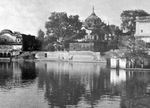 Hare Krishna once made a Ganges come up from the ground when He desired to take a bath. This pond is the result.