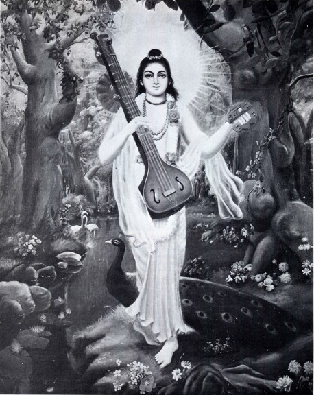 NARADA MUNI, SPIRITUAL MASTER OF KRSNA-DVAIPAYANA VYASA, AND THE UNIVERSAL DELIVERER OF THE HARE KRSNA MAHA-MANTRA