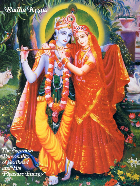 Radha Krsna, The Supreme Personality of Godhead and His Pleasure Energy.
