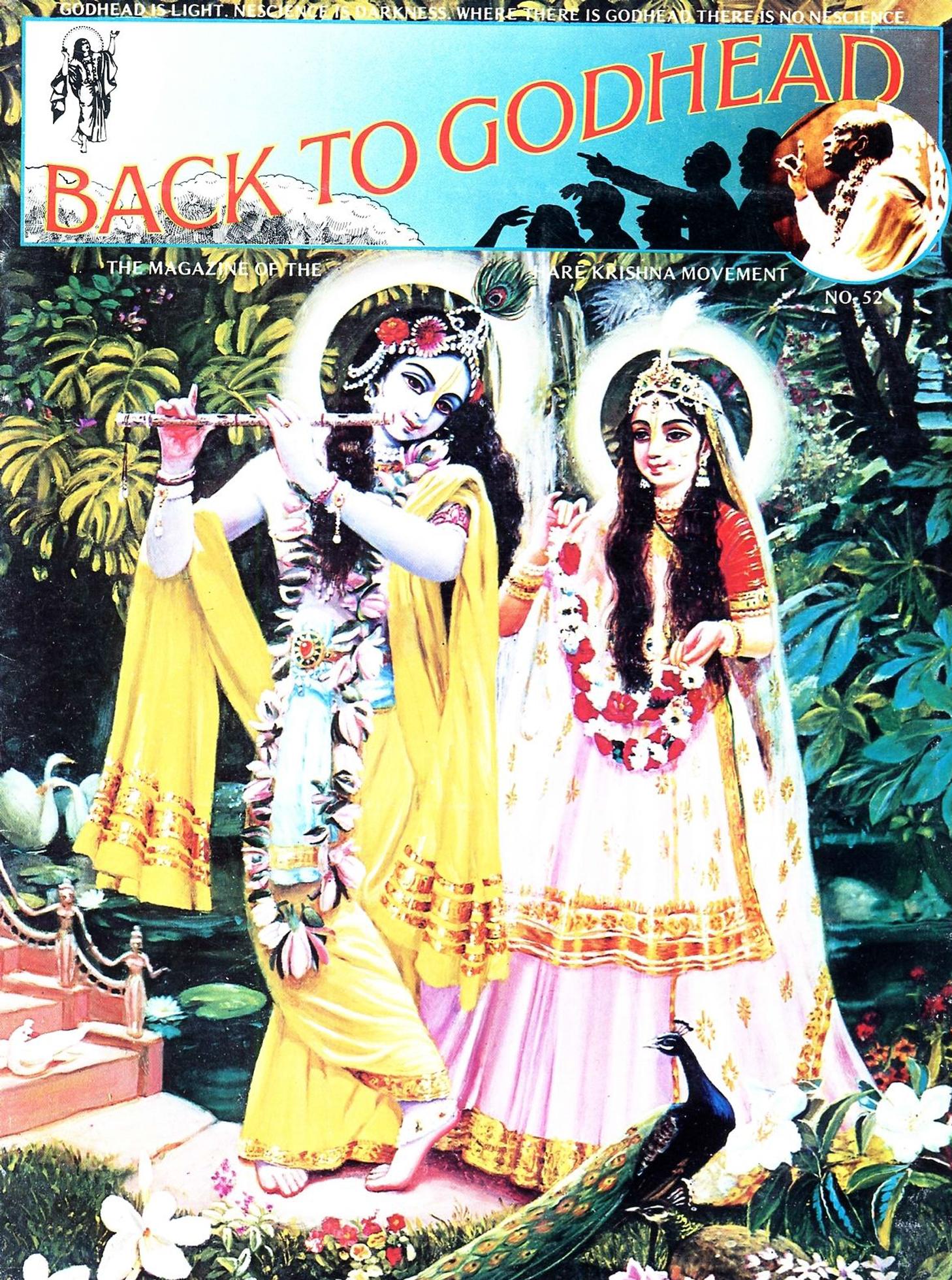 Back to Godhead Vol 52, 1973 PDF Download   Back to Godhead